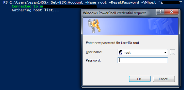 Use PowerCLI to manage users on an ESXi host | Virtual